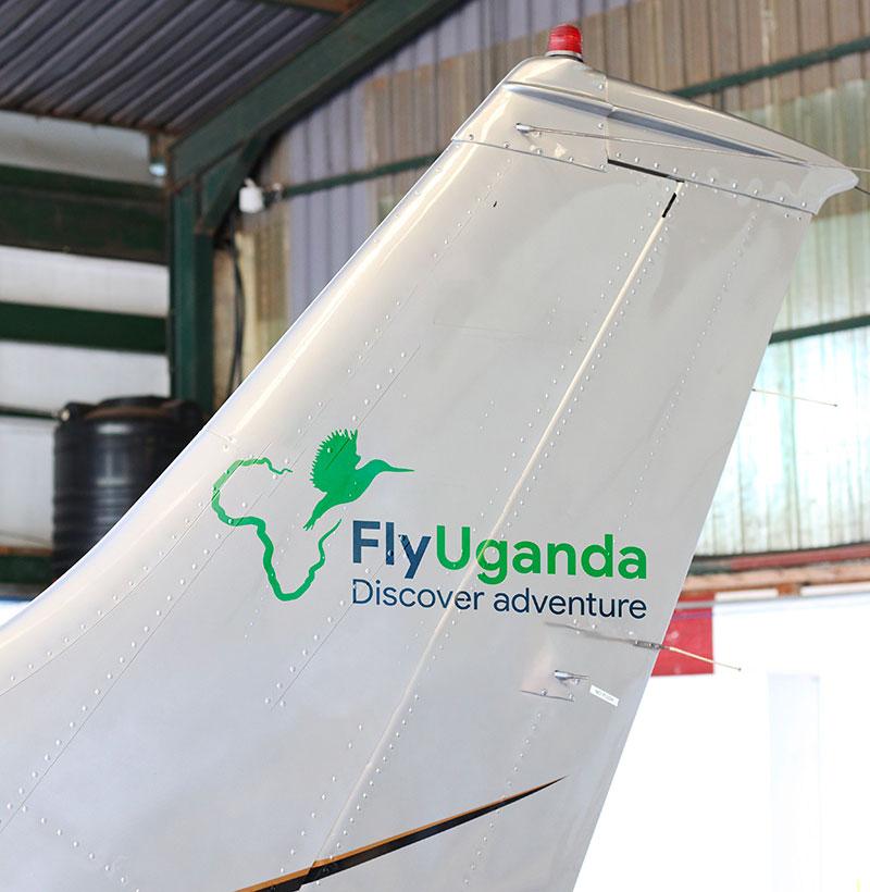 Fly Uganda aircraft branding