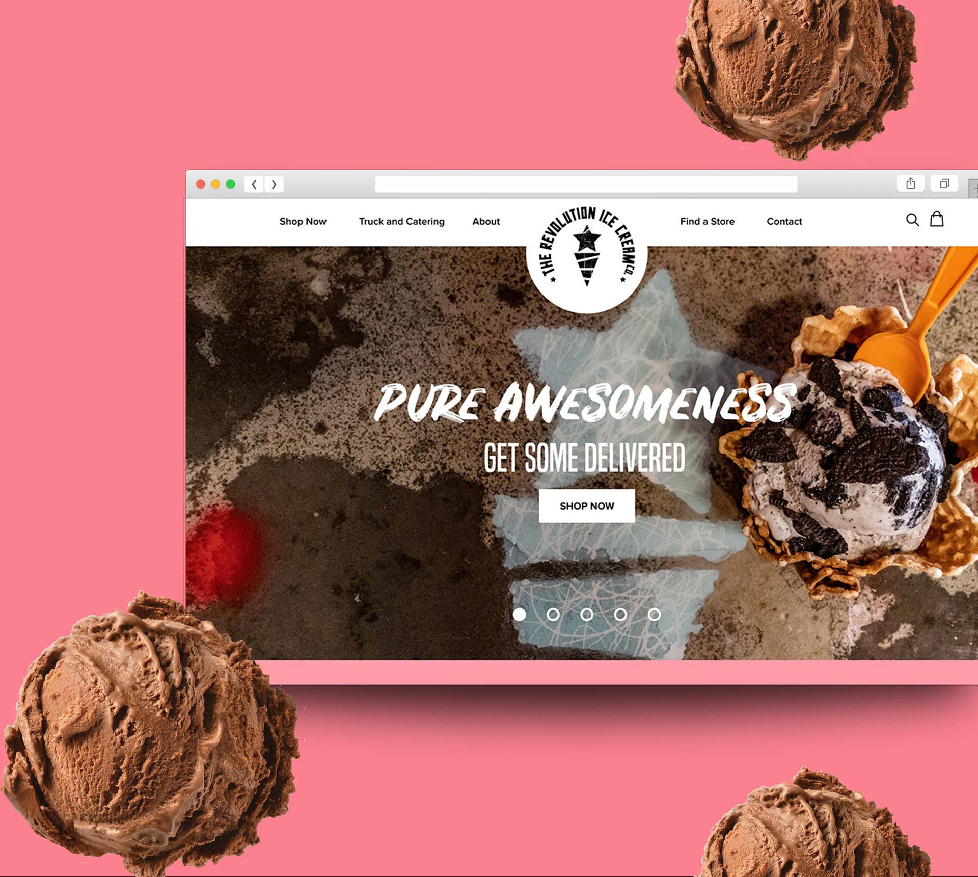 Icecream Shopify Website Design