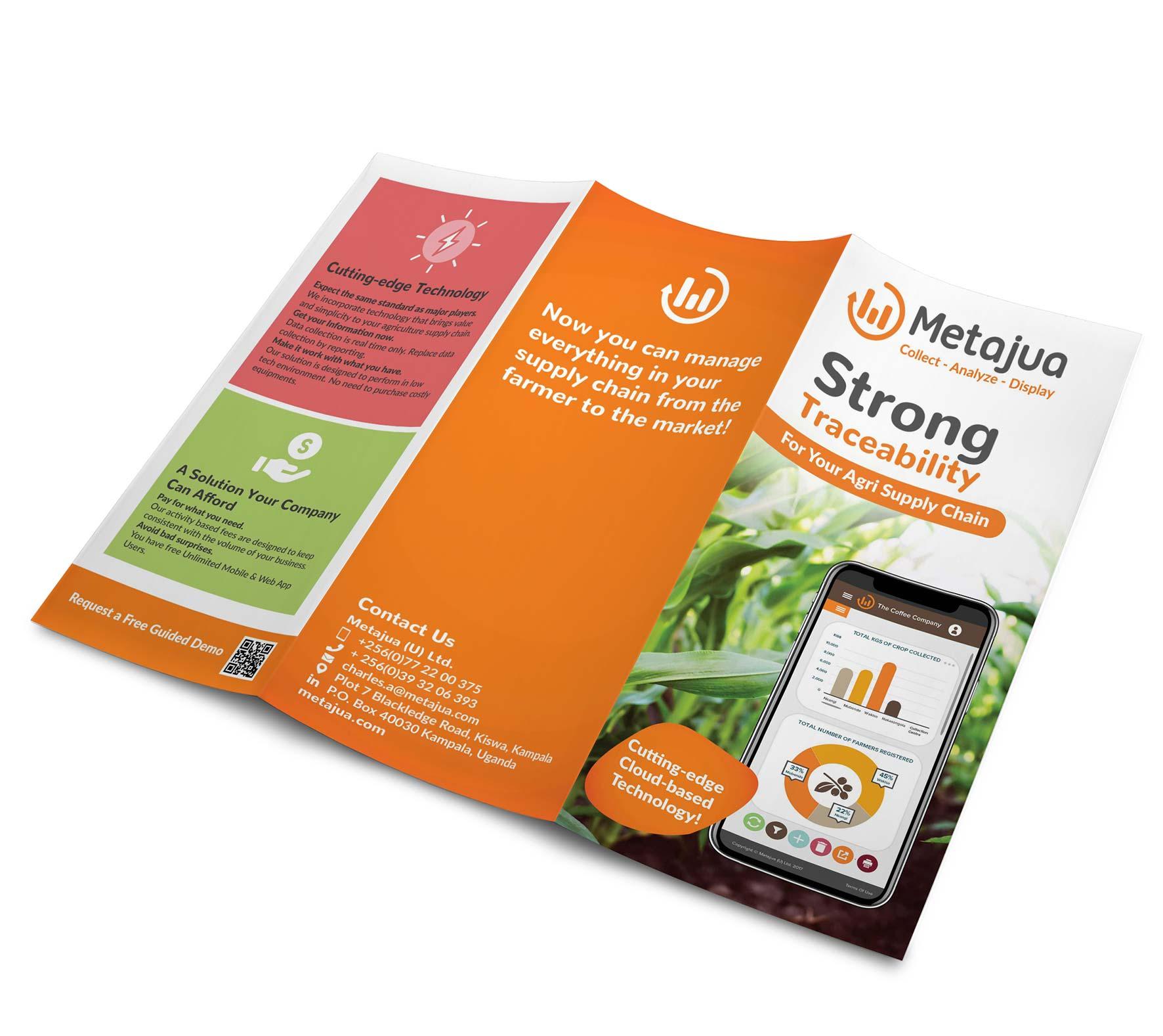 Brochure marketing material design