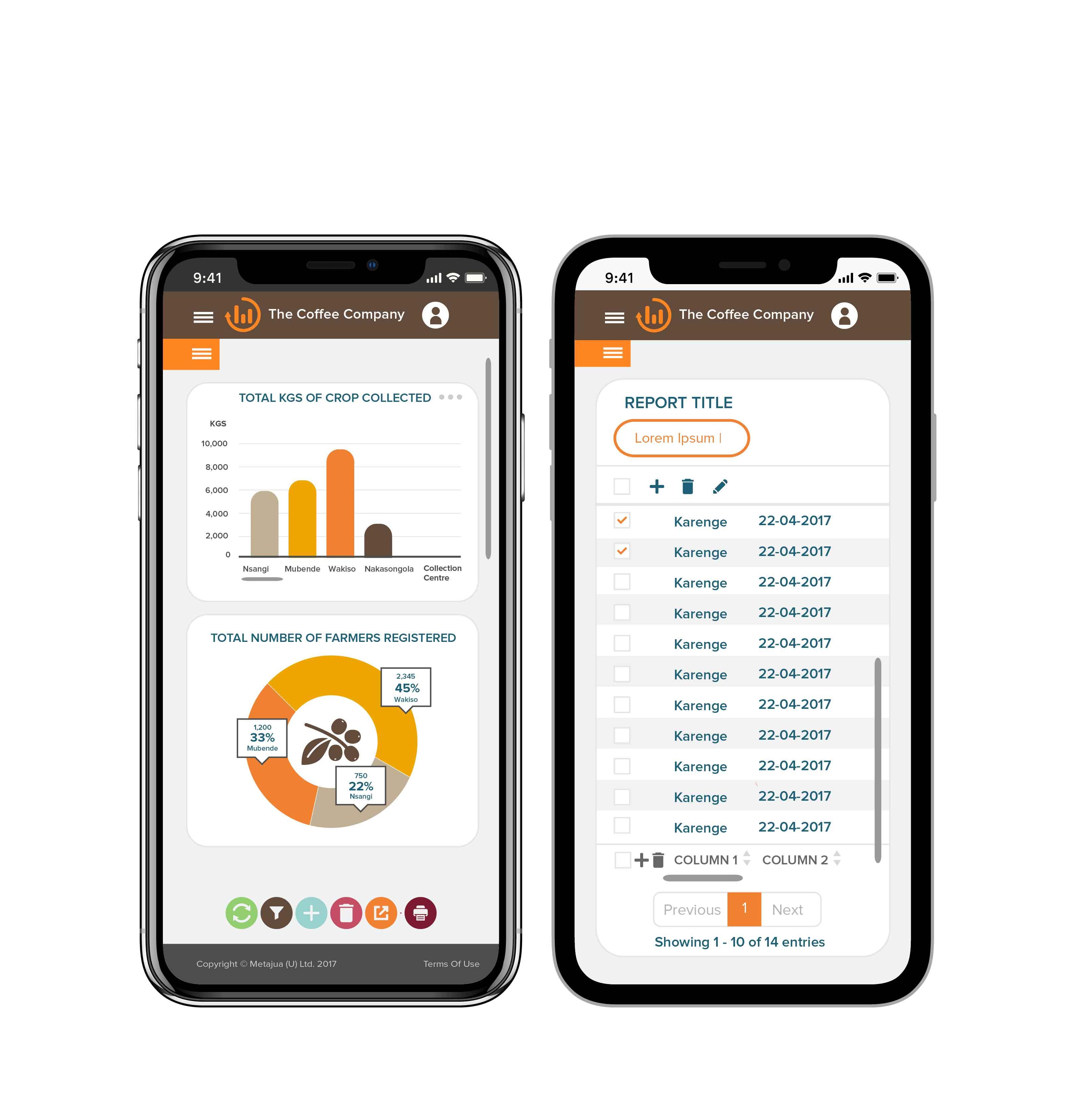 Metajua mobile application