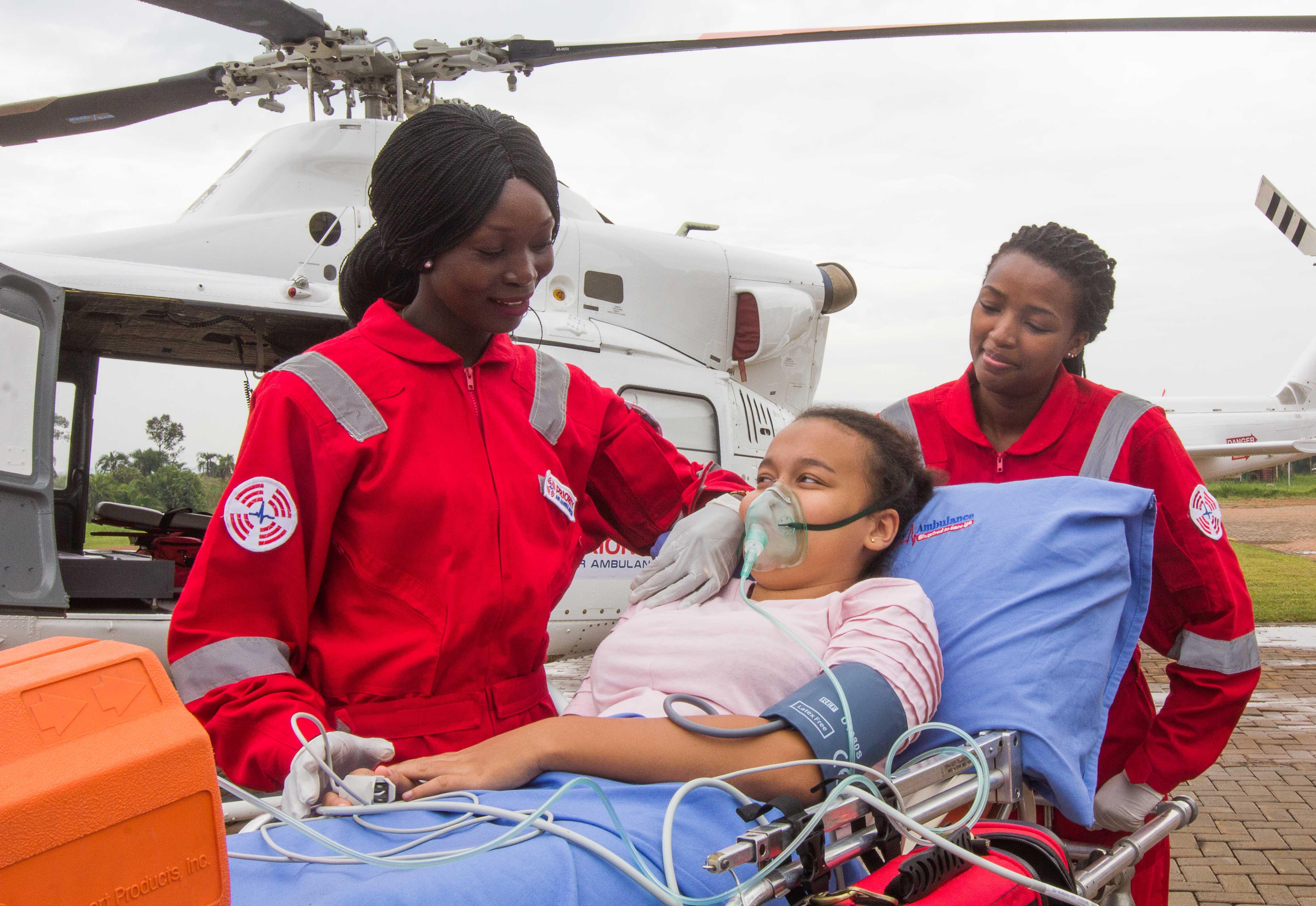 Priority Air Ambulance branding
