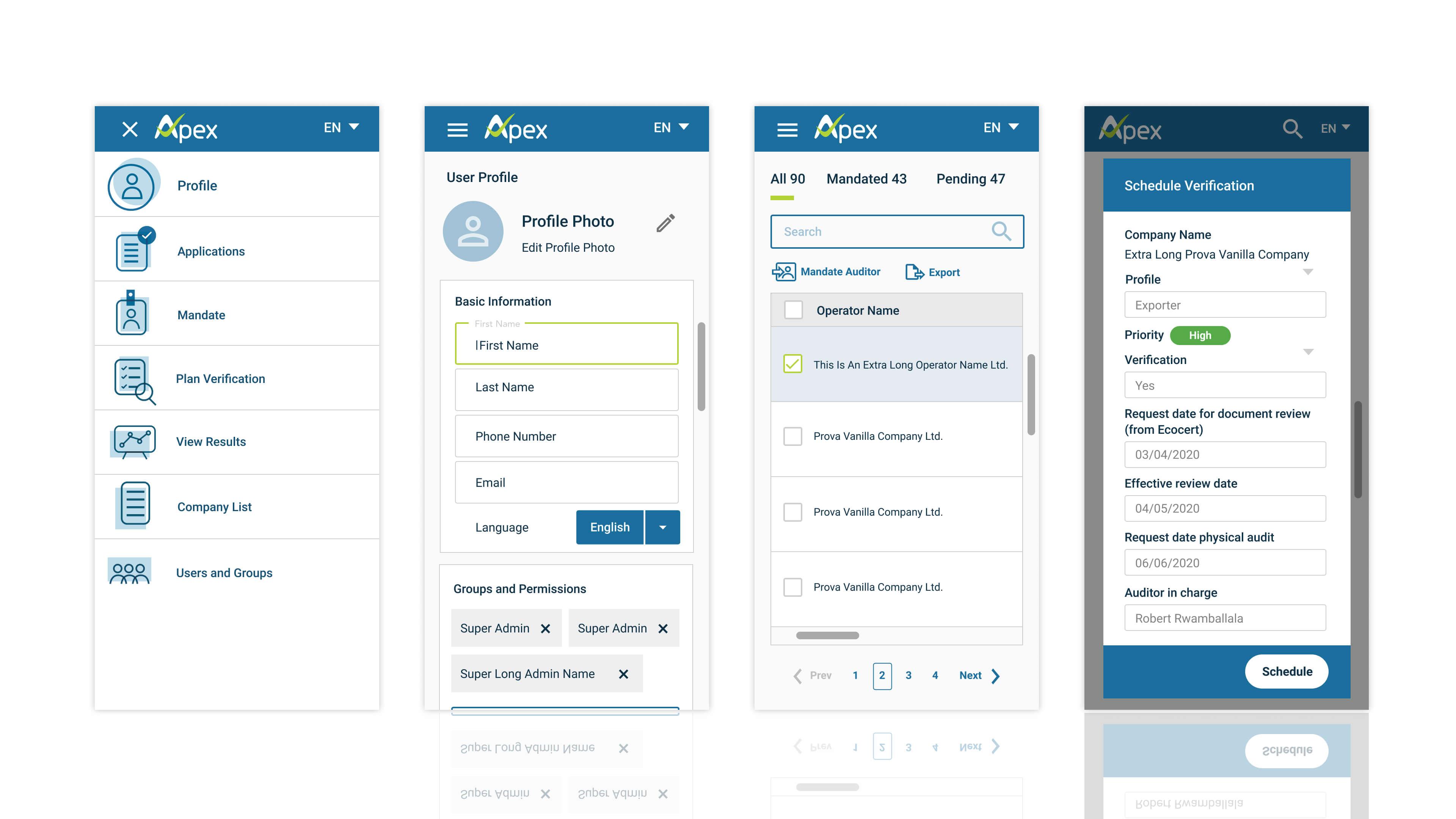 Responsive web application design