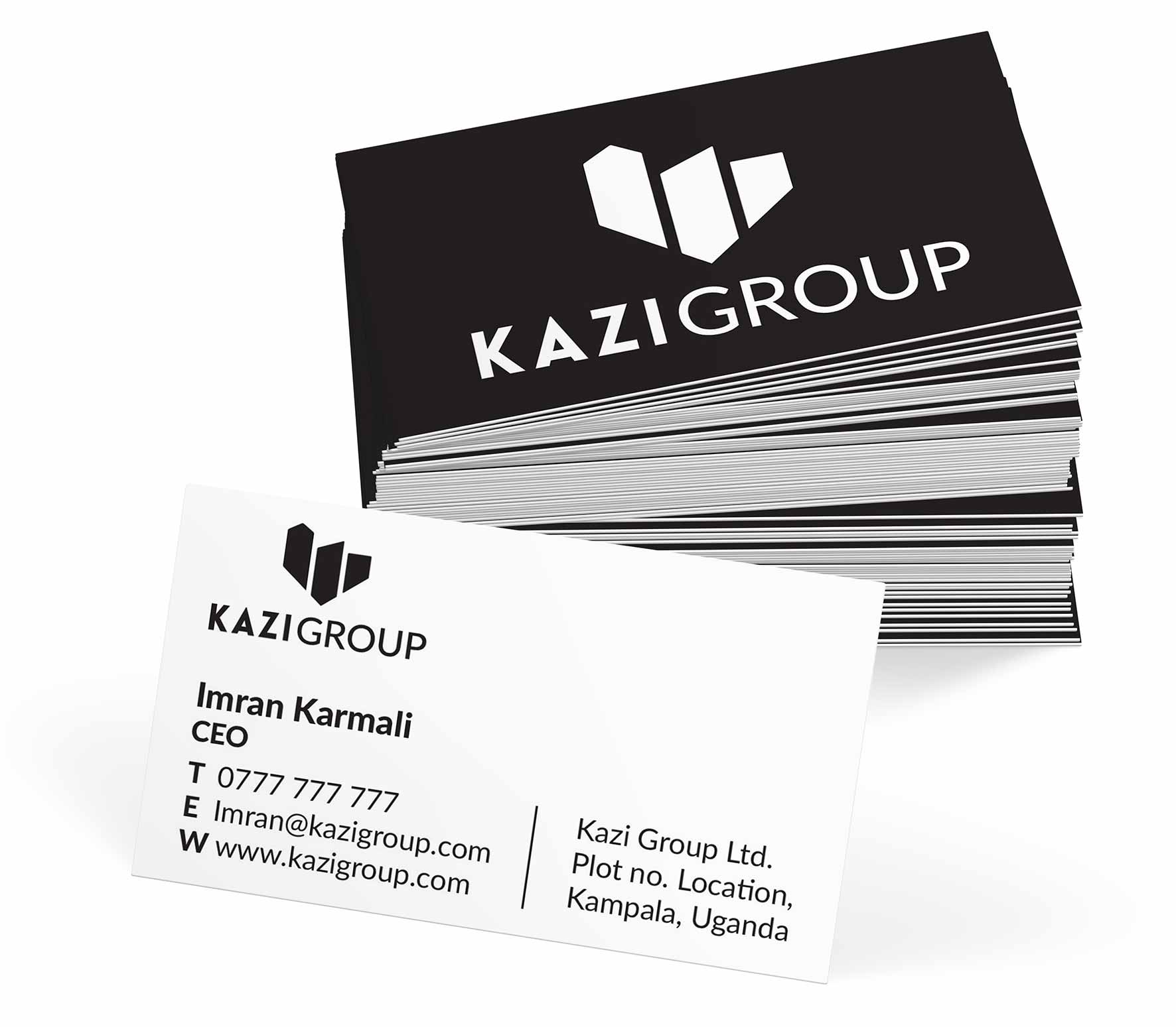 Kazi Group business cards