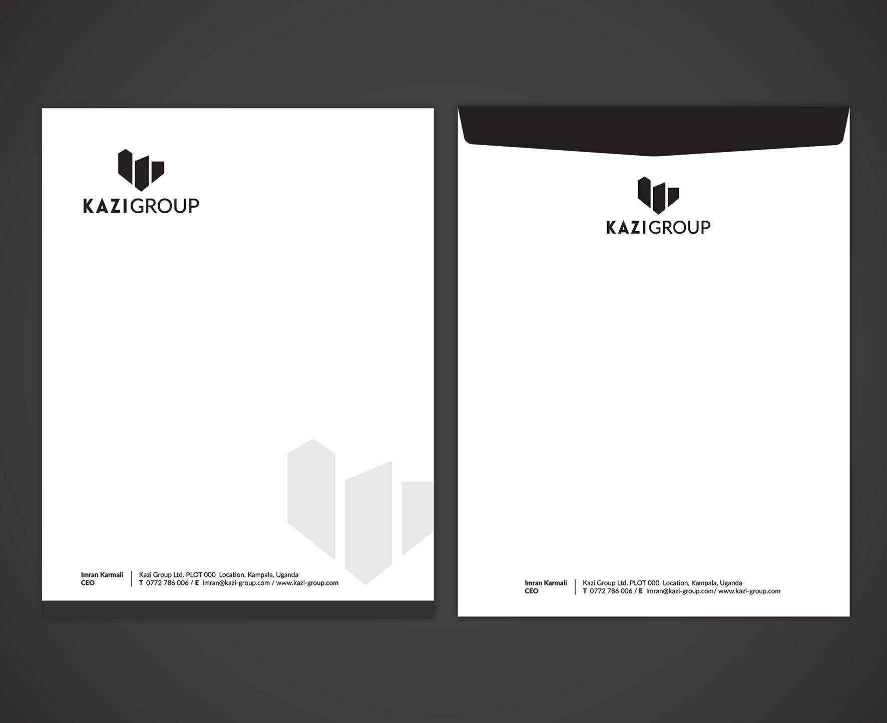 Kazi Group branded stationary