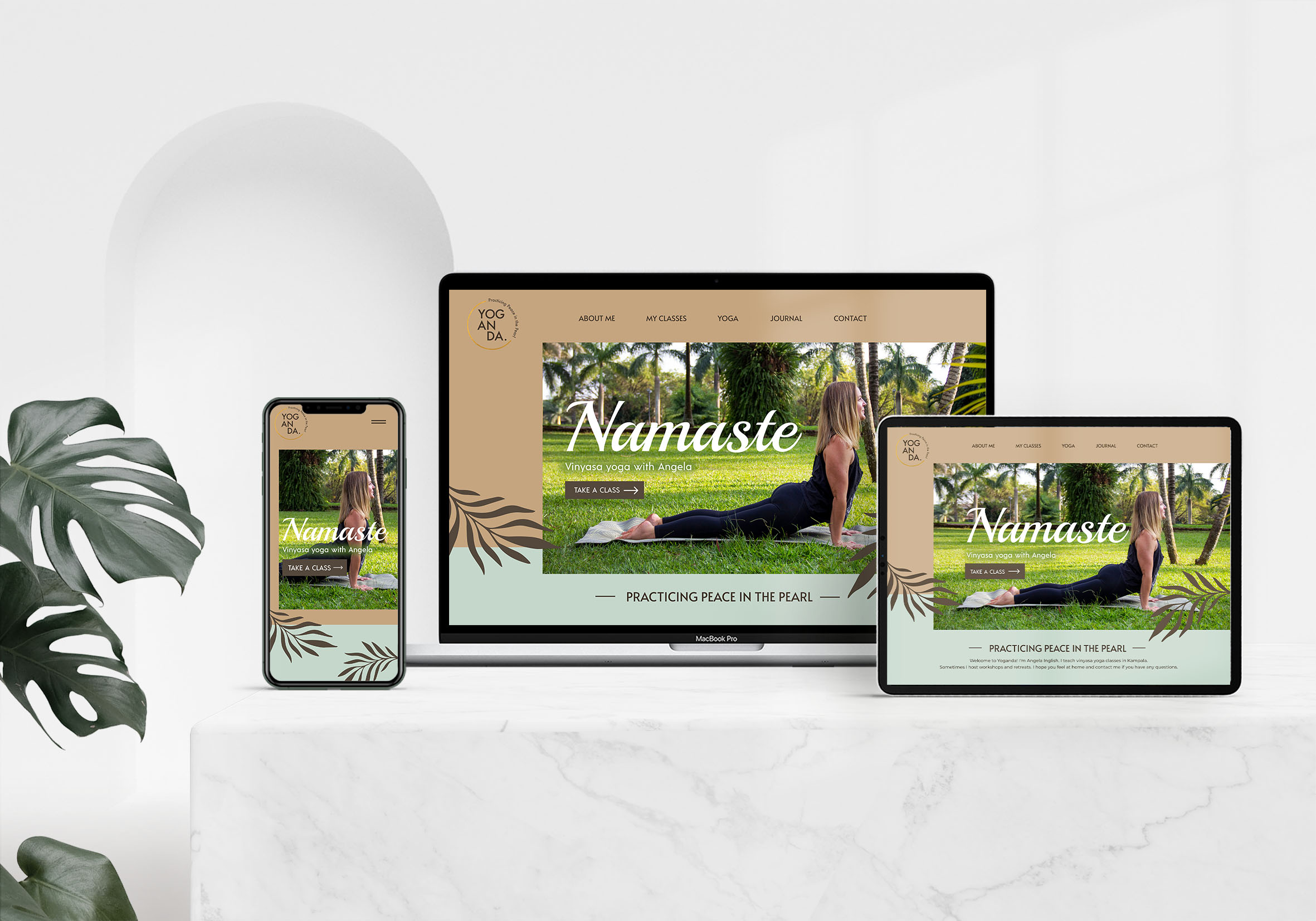 Yoga Brand Website Design